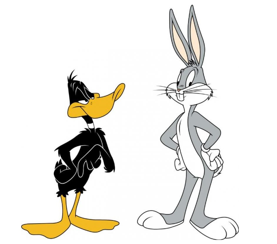 Gangster daffy duck and bugs bunny